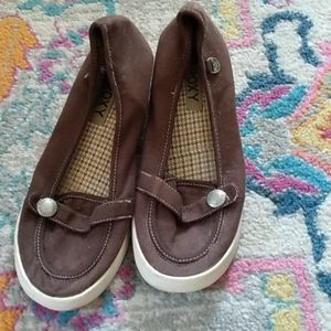 Roxy brown wedge shoes size 9